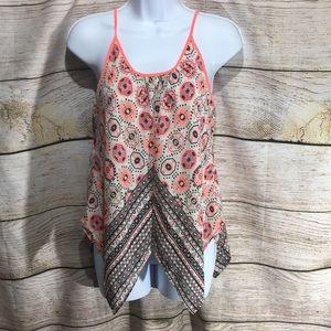 Rue 21 spaghetti strap asymmetric shirt Medium